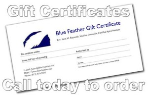 Blue Feather Gift Certificate